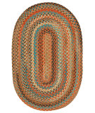 RugStudio presents Capel Jennie Lake 121955 Burnt Sienna Braided Area Rug