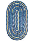 RugStudio presents Capel River Bend 67105 Blue Braided Area Rug