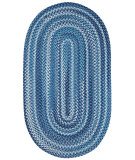 RugStudio presents Capel River Bend 67106 Dark Blue Braided Area Rug