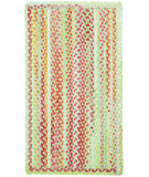 RugStudio presents Capel High Tea 108224 Green Braided Area Rug
