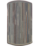 RugStudio presents Capel Briar Wood 108203 Smoke Braided Area Rug