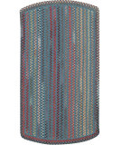 RugStudio presents Capel Briar Wood 108202 Medium Blue Braided Area Rug
