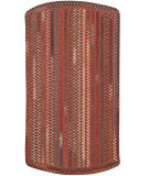 RugStudio presents Capel Briar Wood 108198 Country Red Braided Area Rug