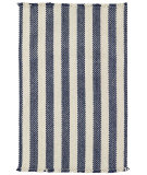 RugStudio presents Capel Nags Head 43898 Blue Stripe Braided Area Rug