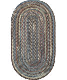 RugStudio presents Capel Eaton 67047 Smoke Braided Area Rug