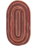 RugStudio presents Capel Eaton 67042 Country Red Braided Area Rug