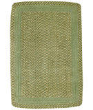 RugStudio presents Capel Millwood 67092 Leaf Green Braided Area Rug