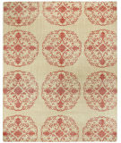 RugStudio presents Capel Classic-Mandala 116486 Cardinal Hand-Knotted, Good Quality Area Rug