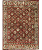RugStudio presents Capel Heritage-Gabbeh 121939 Dark Red Multi Hand-Knotted, Good Quality Area Rug