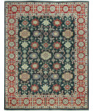 RugStudio presents Capel Heritage-Keshan 121940 Indigo Cardinal Hand-Knotted, Good Quality Area Rug