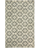 RugStudio presents Capel Blossom 116240 Lt. Charcoal Hand-Knotted, Good Quality Area Rug