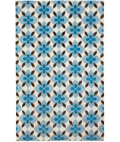 RugStudio presents Capel Blossom 116242 Brt. Blue Chestnut Hand-Knotted, Good Quality Area Rug