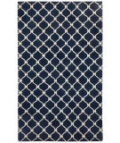 RugStudio presents Capel Picket 116259 Dark Blue Cream Hand-Knotted, Good Quality Area Rug