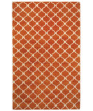 RugStudio presents Capel Picket 116261 Tangerine Cream Hand-Knotted, Good Quality Area Rug