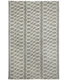 RugStudio presents Capel Twirl 116337 Light Charcoal Cream Hand-Knotted, Good Quality Area Rug