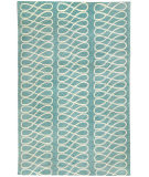 RugStudio presents Capel Twirl 116338 Pale Blue Hand-Knotted, Good Quality Area Rug