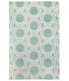 RugStudio presents Capel Princeton 116357 Aquamarine Cream Hand-Knotted, Good Quality Area Rug