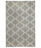 RugStudio presents Capel Yale 116421 Lt. Charcoal Cream Hand-Knotted, Good Quality Area Rug
