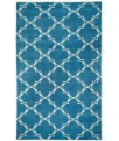 RugStudio presents Capel Yale 116423 Brt. Blue Hand-Knotted, Good Quality Area Rug