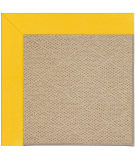 RugStudio presents Capel Zoe-Cane Wicker 108392 Summertime Yellow Hand-Tufted, Best Quality Area Rug