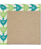 RugStudio presents Capel Zoe-Cane Wicker 108367 Angel Fish Green Area Rug