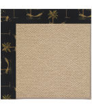 RugStudio presents Capel Zoe-Cane Wicker 108376 Jet Black Area Rug