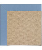 RugStudio presents Capel Zoe-Cane Wicker 108379 Medium Blue Hand-Tufted, Best Quality Area Rug