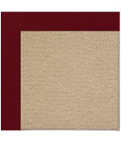 RugStudio presents Capel Zoe-Cane Wicker 108393 Wine Hand-Tufted, Best Quality Area Rug