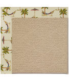 RugStudio presents Capel Zoe-Cane Wicker 108370 Beige Area Rug