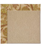 RugStudio presents Capel Zoe-Cane Wicker 55630 Tan/Floral Machine Woven, Best Quality Area Rug