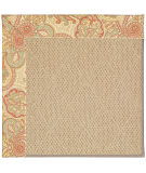 RugStudio presents Capel Zoe-Cane Wicker 55651 Beige/Paisley Machine Woven, Best Quality Area Rug