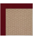 RugStudio presents Capel Zoe-Grassy Mountain 108423 Wine Hand-Tufted, Best Quality Area Rug