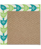 RugStudio presents Capel Zoe-Raffia 108447 Angel Fish Green Area Rug