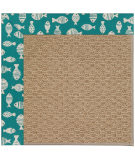 RugStudio presents Capel Zoe-Raffia 108462 Sea Green Area Rug