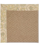 RugStudio presents Capel Zoe-Raffia 55818 Floral/Taupe Machine Woven, Best Quality Area Rug