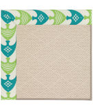 RugStudio presents Capel Zoe-White Wicker 108509 Angel Fish Green Area Rug