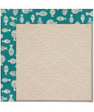 RugStudio presents Capel Zoe-White Wicker 108524 Sea Green Area Rug