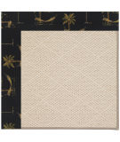 RugStudio presents Capel Zoe-White Wicker 108517 Jet Black Area Rug