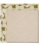RugStudio presents Capel Zoe-White Wicker 108511 Beige Area Rug