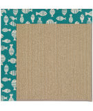 RugStudio presents Capel Zoe-Sisal 108481 Sea Green Area Rug
