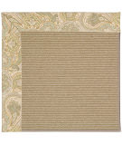 RugStudio presents Capel Zoe-Sisal 55941 Quarry/Floral Sisal/Seagrass/Jute Area Rug