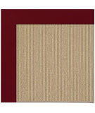 RugStudio presents Capel Zoe-Sisal 108484 Wine Area Rug