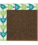 RugStudio presents Capel Zoe-Java Sisal 108424 Angel Fish Green Area Rug