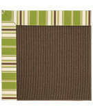 RugStudio presents Capel Zoe-Java Sisal 62921 Green Stripe Machine Woven, Best Quality Area Rug