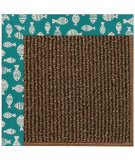 RugStudio presents Capel Zoe-Java Sisal 108443 Sea Green Area Rug