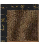 RugStudio presents Capel Zoe-Java Sisal 108435 Jet Black Area Rug