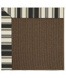 RugStudio presents Capel Zoe-Java Sisal 62939 Onyx Stripe Machine Woven, Best Quality Area Rug