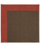 RugStudio presents Capel Zoe-Java Sisal 62863 Apple Red Stripes Machine Woven, Best Quality Area Rug