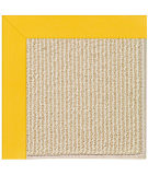 RugStudio presents Capel Zoe-Beach Sisal 108365 Summertime Yellow Area Rug
