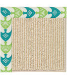 RugStudio presents Capel Zoe-Beach Sisal 108343 Angel Fish Green Hand-Tufted, Best Quality Area Rug